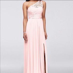 David's Bridal Bridesmaid Dress, Petal Pink